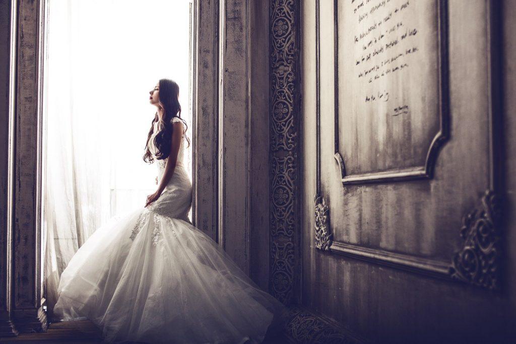 cô dâu có vóc dáng đẹp
