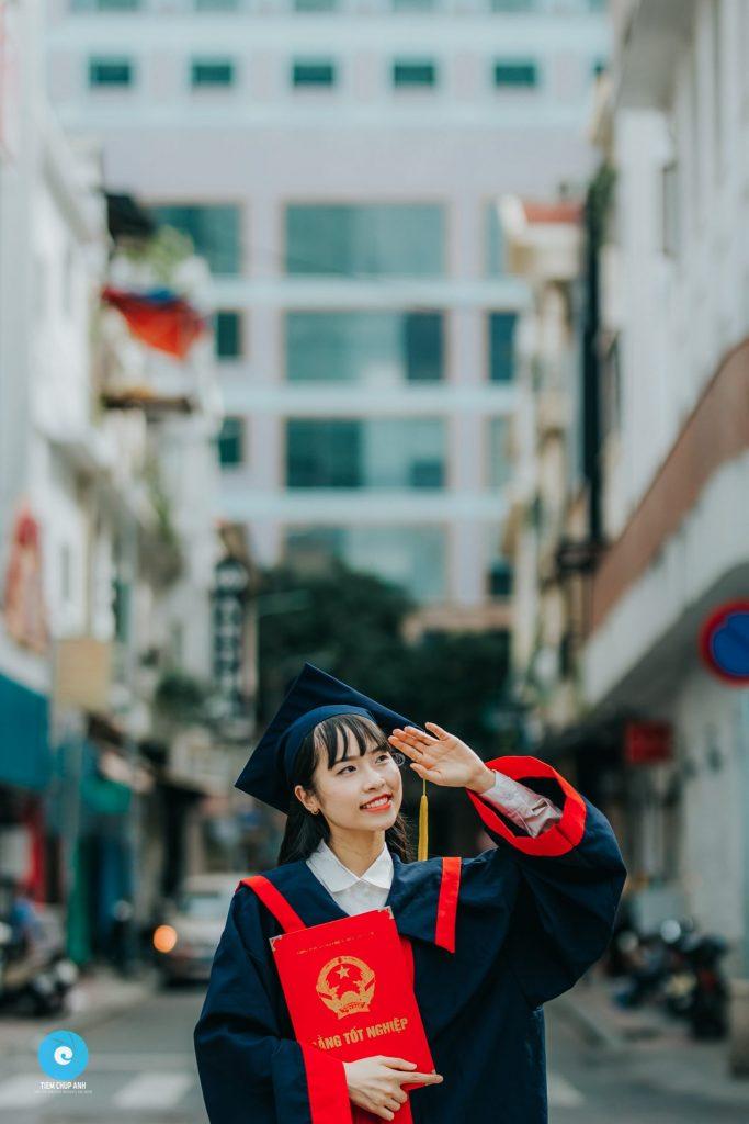 chụp ảnh tốt nghiệp đại học