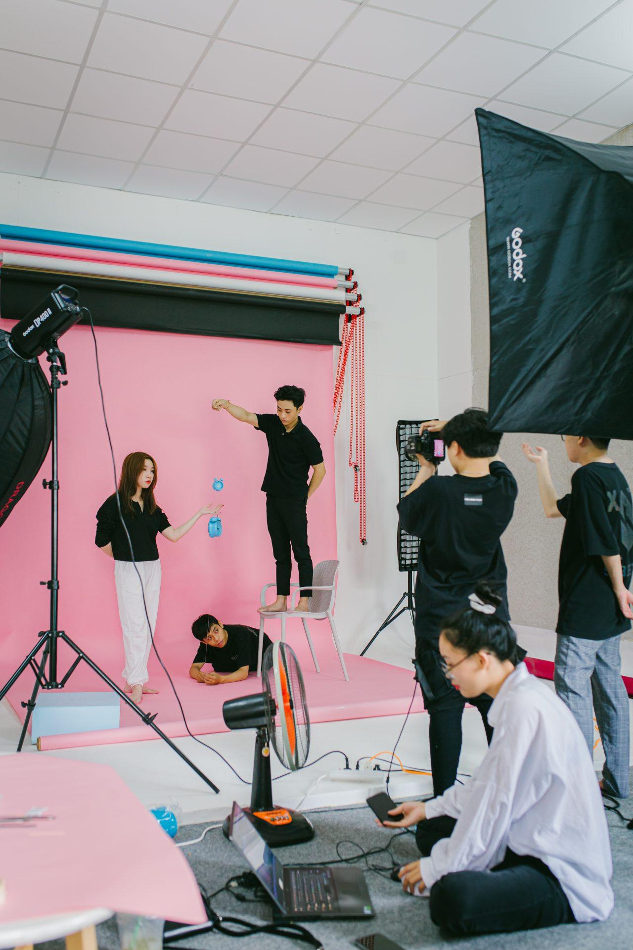 Hậu trường chụp studio
