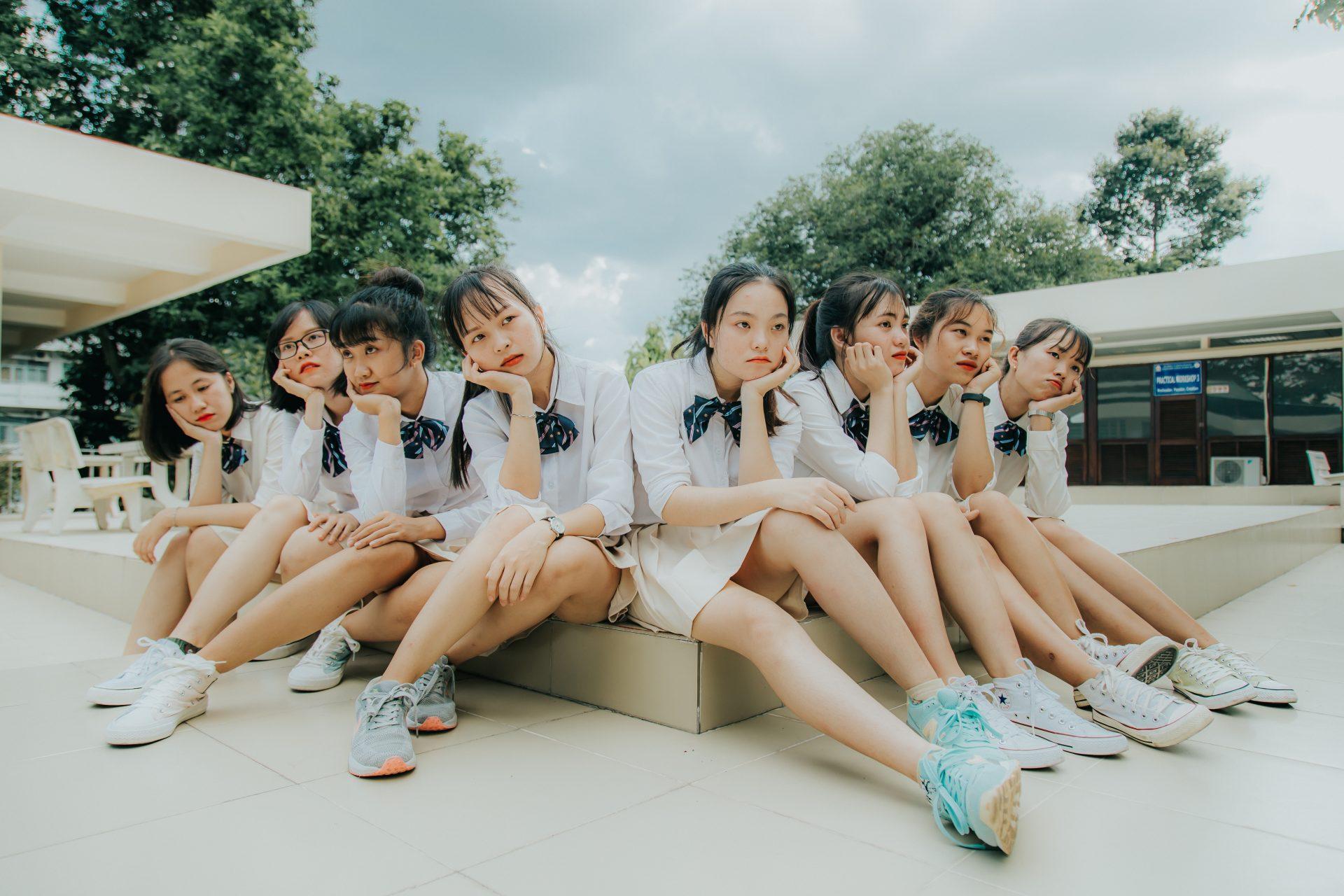 chụp hình nhóm đẹp